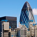 The Gherkin and the Lloyd's Building
