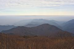 View from Cheonwangbong peak at Biseulsan, Korea (thinklogically) Tags: biseulsan 비슬산 대구 daegu dalseong cheonwangbong peak sonya7 carlzeissjena 50mmf18 pancolar50mmf18 rawtherapee mountain korea czjpancolar wikilovesearth wlekorea 천왕봉 정상 biseulmountain