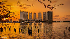 Golden Hour - North Jakarta (IAM FE) Tags: goldenhour cityscape waterscape buildings sunset