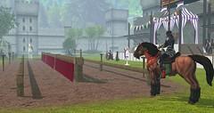 Avilion Nexus - RFL Grand medieval Joust and Ball (Osiris LeShelle) Tags: secondlife second life avilion nexus medieval fantasy roleplay combat ball joust jousting tournament horse rfl relayforlifeinsl relay
