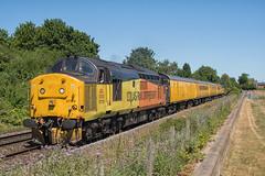 Colas Rail Freight Class 37 37175 (Barry Duffin) Tags: train railway locomotive colas class37 37175 37254 1q68 doncaster derbyrtc attenborough testtrain 35mm