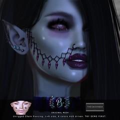 Onyxia Chain Piercing @ THE DARKNESS (SiLverMoon Namiboo) Tags: face nose nostril piercing chain sl second life accessories metallic metal gems dark darkness punk goth gothic vampire vampyre diamonds diamond blaxium blx original unrigged mesh eyes madamenoir