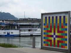 P1060094 (Elisabeth patchwork) Tags: linz austria architecture boat river danube cruising lentos lentoskunstmuseum