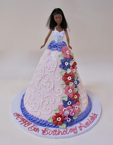 Superb Barbie Doll Birthday Cake 301304 A Photo On Flickriver Birthday Cards Printable Opercafe Filternl