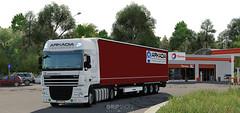 DAF XF105.460 - Arkadia Transport [ETS2] (gripshotz) Tags: daf xf 105 460 krone profiliner trailer arkadia transport romania skin euro truck simulator ets 2