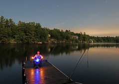 dock at night (scienceduck) Tags: 2017 scienceduck muskoka lake lakemuldrew muldrew dock night light lightpainting me moi