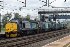 DRS 68004, 68001, 68018, 68002 and 37419 @ Rugeley Trent Valley train station (ianjpoole) Tags: direct rail services class 68 warskip 68004 68001 68018 68002 well 37 tractor 37419 working 0z30 norwich crown point trsmd crewe gresty bridge drs