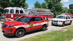 Battalion 2 and ES2 (Central Ohio Emergency Response) Tags: columbus ohio fire division department truck battalion chief deputy ford chevy tahoe