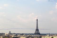 World cup above Paris (bertrand kulik) Tags: toureiffel france paris architecture patrouilledefrance worldcup