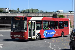WOB 51 @ Warrington bus station (ianjpoole) Tags: warringtons own buses volvo b6ble wright merit dk55hmo 51 working route 22 warrington bus station liverpool row vulcan village