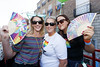 Laura Glennon, Erica Burke and Rebekka Sexton pictured on the Mamma Mia! Here We Go Again float at this year's Dublin Pride Parade, Saturday June 30th. Picture Andres Poveda