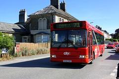 Devonshire Dart at Liskeard (Chris Baines) Tags: plymouth city bus dennis dart plaxton pointer mj52 goe liskeard 73 service fleet number 64 red cars