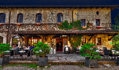 Good morning everyone, welcome to the village bistro (Marco Trovò) Tags: marcotrovò hdr canoneos5d piacenza gazzola rivalta borgo villaggio village castellodirivalta rivaltacastle zanardilandi castello castle houses case edifici buildings strada streeet bistrot bar ristorante caférestaurant valtrebbia