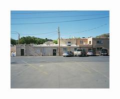 parking lot (ha*voc) Tags: mamiya7ii rangefinder film 65mm 120 mediumformat 6x7 kodakektar100 urban urbanfragments usa utah mundane silence kanab