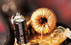 the inside of an old plug #inside electronics#for MacroMondays (berber hoving) Tags: electronics inside macromondays plug