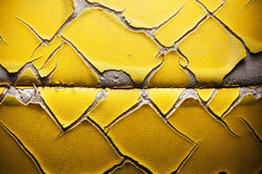 Volleyball Ball Details (dejankrsmanovic) Tags: volley volleyball ball texture material model pattern background copyspace closeup detail macro object stilllife surface ruined obsolete sparse simple yellow sport equipment concept conceptual skin leather used aged old weathered