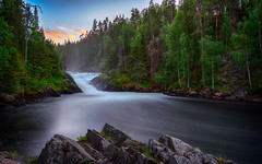 Jyrävä (M.T.L Photography) Tags: jyrävä kuusamo waterfall water tree rocks forest sky sunset mtlphotography mikkoleinonencom landscape summer night nightless riverkitkajoki kitkajoki