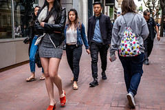 San Francisco 2018 (burnt dirt) Tags: sanfrancisco california vacation town city street road sidewalk crossing streetcar cablecar tree building store restaurant people person girl woman man couple group lovers friends family holdinghands candid documentary streetphotography turnaround portrait fujifilm xt1 color laugh smile young old asian latina white european europe korean chinese thai dress skirt denim shorts boots heels leather tights leggings yogapants shorthair longhair cellphone glasses sunglasses blonde brunette redhead tattoo pretty beautiful selfie fashion japanese polkadot legs red orange