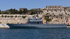 Patrol Ship (Lee Rosenbaum) Tags: valletta ship fortress ruins water military malta boat patrolboat taxbiex mt
