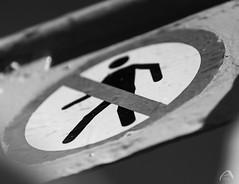 No man (sharken14) Tags: skylt no man forbidden förbjuden personal monochrome svartvitt sign ferry färja gräsö uppland sweden nikon d750 mercurius öregrund