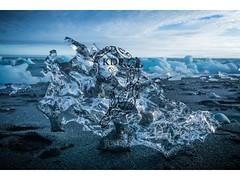 Dragon's Skull (Kimo Diaz Photography) Tags: iceland ice frozen sculpture blacksand sand beach portrait hdr art digital travel landscape crystal blue dramatic jökulsárlón kimodiaz kimo diaz photography