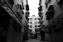P1020043p (labadong) Tags: 模範街 台中 街拍 單色 建築
