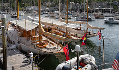 Belle Aventure, Mariella & Black Watch (johnarey) Tags: mariella fife belleaventure blackwatch yachts sailboats harbor wayfarer camden maine lymanmorseatwayfarermarine