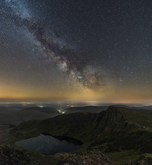'Cwm Cau Milky Way' - Cadair Idris, Snowdonia (Kristofer Williams) Tags: cadairidris caderidris cwmcau llyncau milkyway mountain snowdonia wales landscape nightscape night sky stars