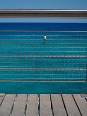 Padlocked. (CWhatPhotos) Tags: cwhatphotos cyprus protaras blue blueskies sky sea padlock fence