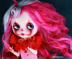 Pennywise (pure_embers) Tags: pure embers blythe doll dolls custom gbaby neo uk laura england girl pretty pureembers photography pink alpaca hair portrait visitor dolly meet pennywise clown