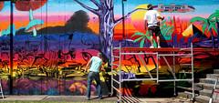 step in the arena Eindhoven (wojofoto) Tags: eindhoven nederland netherland holland streetart stepinthearena berenkuil festival graffiti 2018 wojofoto wolfgangjosten action artist streetartist mister feks