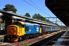 Via Berney Arms (Chris Baines) Tags: drs 37409 short set norwich 37407 rear