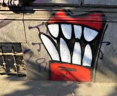 Red mouth (Linda DV) Tags: lindadevolder lumix geotagged belgium brussels 2018 streetart art artderue graffiti ribbet panasonic colour colours urbanart urbanculture city europe capitalcity mural fresco