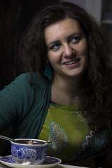 IMG_3073 (Stefano Iacono) Tags: portrait girl smile green blue beauty lady woman tea