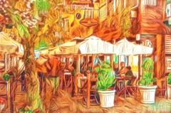 "meeting friends (urban view) (♣Cleide@.♣) Tags: © ♣cleide♣ brazil 2018 photo art digital ps painting urbanview city gramadors artdigital exotic ""netartii"" sotn awardtree"