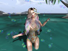 Entrance no.282 (Curiosse) Tags: swimsuit vestidor tropical palm floral stamps sexy 2018 new release luxeparis