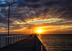 listen to the whispers of the universe (Bec .) Tags: listentothewhispersoftheuniverse bec canon 80d 18135mm largsbay largsjetty pier adelaide southaustralia sunset sun beach ocean light beauty silhouette lightflare eye
