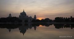 Kolkata - Victoria Memorial (Rolandito.) Tags: india indien inde west bengal kolkata calcutta monument sunset queen victoria memorial