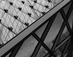 Baker St (alex_hancock) Tags: glass architecture snow abstract closeup detail lines geometric angular london building structure frame