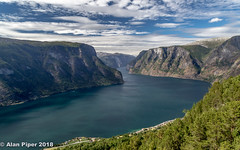 Aurlandsfjorden from Stegastein Viewpoint (PapaPiper (Travelling with my camera)) Tags: norway stegasteinviewpoint fjord water landscape waterscape aurlandsfjorden