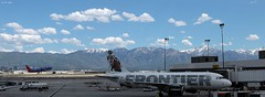 Over the Hills and Far Away (zeesstof) Tags: saltlakecity utah unitedstates usa mountains landscape airport aircraft zeesstof wasatch snowcappedpeaks snow