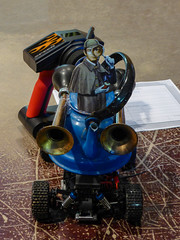 Elementary RC Racing (Steve Taylor (Photography)) Tags: remotecontrol car sherlockholmes magnifyingglass deerstalker horn teapot spring handle certificate pipe design black blue brown red orange mad strange odd weird crazy man newzealand nz southisland canterbury christchurch