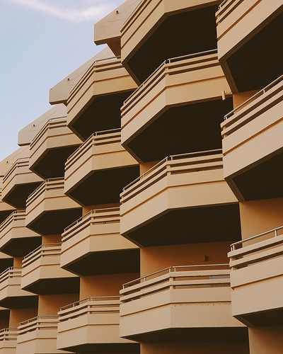 Hotel balconies at Hua Hin