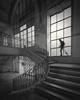 Subida (Vesa Pihanurmi) Tags: porto portugal bolhão market mercadodobolhão stairs spiral window streetphotography streetmetaphysics metaphysics metaphysical longexposure characters figures people monochrome blackandwhite rails