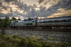 I had it all planned out (builder24car) Tags: railfanning benchingthefreights passengertrain amtrak amtk186 clouds jamestownnorthcarolina