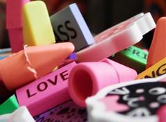 "Eraser Galore   ""Macro Mondays"" (marieschubert1) Tags: multiplr shapes clolors choice rubber fun correcting ""macro mondays"" ""erasers"" multiple"
