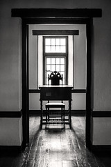 Door Desk Chair 3-0 F LR 4-21-18 J234 (sunspotimages) Tags: doors door desk desks chair chairs blackwhite blackandwhite bw monochrome maryland stmarysmaryland marylandstatehouse reconstructed places historical historic colonial building buildings architecture windows window