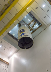 Fairing lowered over Galileos 23–26 (europeanspaceagency) Tags: pose ela3 csg guyane baf juillet 2018 va244 ariane5es campagnelancement cu1galileo coiffe lanceur kourou france esa europeanspaceagency space universe cosmos spacescience science spacetechnology tech technology frenchguiana galileo