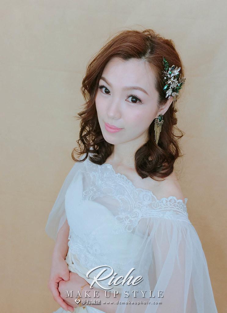 【新秘RICHE】新娘造型創作 /浪漫微卷