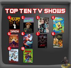 Top Ten TV Shows (AntMan3001) Tags: top ten tv shows